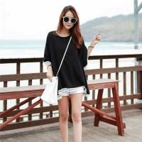 Baju Atasan Hitam Korea Import