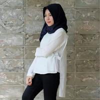 Naelle Blouse (white) / Baju Muslim / Blouse / Atasan Wanita