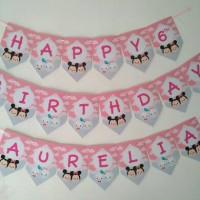 TsumTsum custom Bunting Flag Birthday, banner birthday