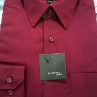 kemeja ALISAN merah maroon REG FIT/ SLIM FIT . POLOS Panjang