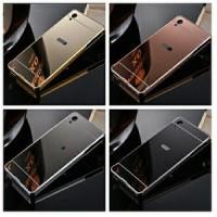 hard case / back case bumper + plat mirror infinix hot 2 / X510