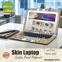 """Garskin Bezel Palmrest/Skin Laptop 10 - 15"""" Custom Gambar Sendiri"""