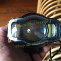 Lampu sorot/tembak led Motor RTD e03 C flood + Charger/chasan HP USB