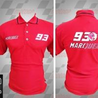 Jual kemeja/kaos kerah/Kaos/Racing MotoGP/Polo MotoGP Marquez Merah