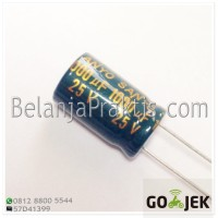 Elco 1000uF 25V - Electrolytic Capacitor - Kapasitor 1000 uF - 10x17mm
