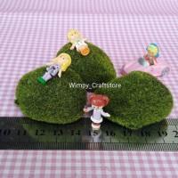 rumput palsu dekorasi miniature terrarium fairy garden mini garden