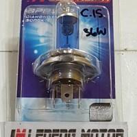 Autovision Diamond Blue H4 H7 5000K 36w 60w Lampu Bohlam Motor Mobil