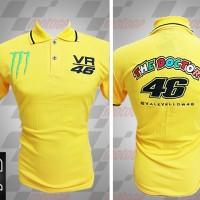 Jual kemeja,kaos kerah, Kaos polo Racing MotoGP Valentino Rossi Kuning
