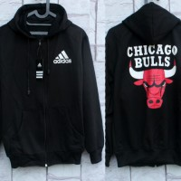 Jaket Adidas Chicago Bulls Hitam (Hoodie/jumper/Sweater/Basketball)