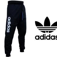 Celana Jogger Panjang Adidas Hitam (Celana Training-Jogger-Sport)