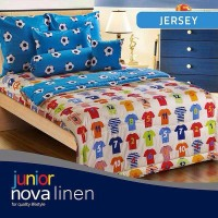 Bed Cover Single Size 150 x 220 Type JERSEY Berkualitas