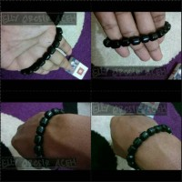 gelang batu natural black jade aceh gread A type bambu 2