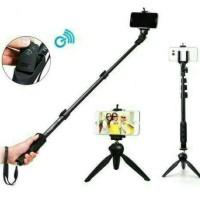 Paket Selfie Yunteng Tongsis Bluetoot YT-1288 + Mini Tripod LR-268