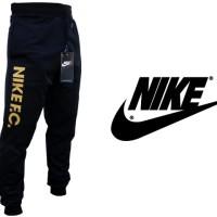 Celana Jogger Panjang Nike FC Hitam Teks Gold (Training/Olahraga)