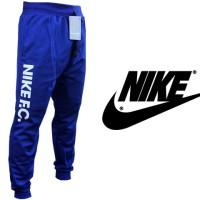Celana Jogger Panjang Nike FC Biru Teks Putih (Training/Olahraga)