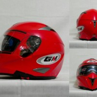 Helm GM Airborne Red Ferrari Merah Solid Visor Full Airbone