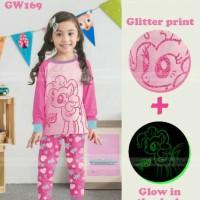 baju setelan piyama glow in the dark gw169 G kuda pony gw 169 G