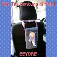 Tempat Tissue Mobil Tas/Boneka Eeyore/Eyore/Ungu