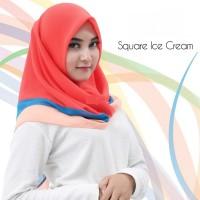 Kerudung hijab jilbab segi4 segi 4 ice cream silk