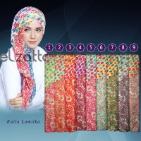 ELZATTA Hijab Kerudung Jilbab Segi Empat Kaila Lamilka Asli Terbaru