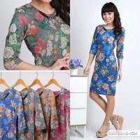 Icha Flowery Bodycon Mini Dress