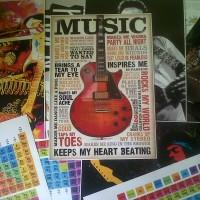 Poster vintage music Size:29x40 cm Art paper tebal
