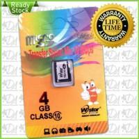 Micro SD WStor 4gb Class 10