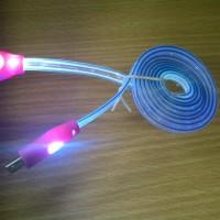 Kabel Data / Kabel Charger Smile Micro USB Glow Murah Bagus