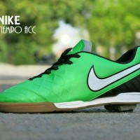 Sepatu Futsal Nike Tiempo ACC Grade ORI / Hijau Hitam