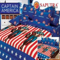 Bed Cover Set Sprei Rumbai Saputra 160 x 200 Captain America