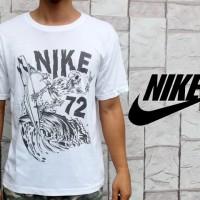 Kaos Oblong Nike Putih 72 Teteron Cotton 30s (T-shirt) Warna Putih