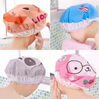 Shower Cap Karakter Topi Mandi Tutup Kepala Kartun Lucu