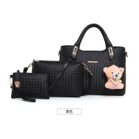 TERMURAH   TAS import wanita 1 set + dompet pouch F24395