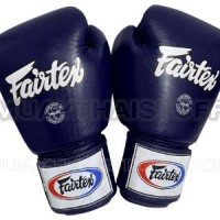 Glove Sarung Tinju Fairtex Navy + Handwrap Fairtex Sepasang Biru