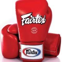 Glove Sarung Tinju Fairtex Red + Handwrap Fairtex Sepasang Red