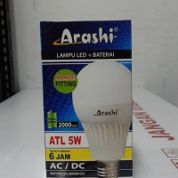 Lampu LED emergency Arashi 5 watt 5w + Bonus Fitting