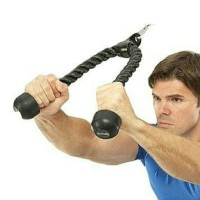 Triceps muscle exercise rope tali latihan tricep fitness workout gym