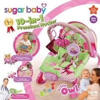 Bouncer Sugar Baby Premium 10 in 1 LIttle Owl Unik