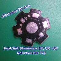 Heat Sink Aluminium / Plat Pendingin LED 1W - 5W Universal Star PCB