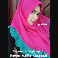 jilbab syari square segiempat rempel malika segiempat rempel warna