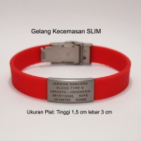 Gelang Kecemasan Slim / Slim Road Id / Safe Id Slim / Road Id Slim