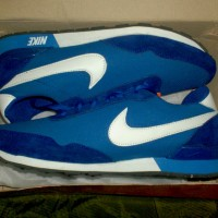 Sepatu Running / Running Shoes warna biru Logo Nike Ukuran 42