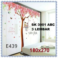 wall sticker 180x270 pohon sakura cople