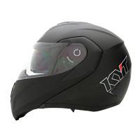 Helm KYT RRX Modular Full Black Glossy/Doff Visor Flip Up Dop