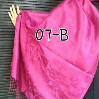 Pasmina Turki - Warna Bunglon Pink Motif Bunga