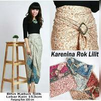 Rok Lilit Serut Semi Sutra Batik Bunga kode R028 (Good Quality)