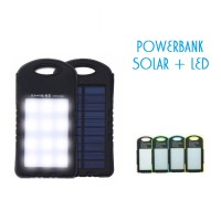 Power Bank Solar Cell Charger+12 Led/ Pengisi Daya Tenaga Surya