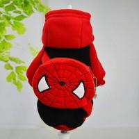 baju anjing kucing dengan tas spiderman