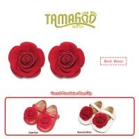 Aksesoris Sepatu Bayi & Anak Perempuan Tamagoo-Red Rose Shoe Clip