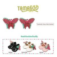 Aksesoris Sepatu Bayi & Anak Perempuan Tamagoo-Butterfly Tosca Fuschia